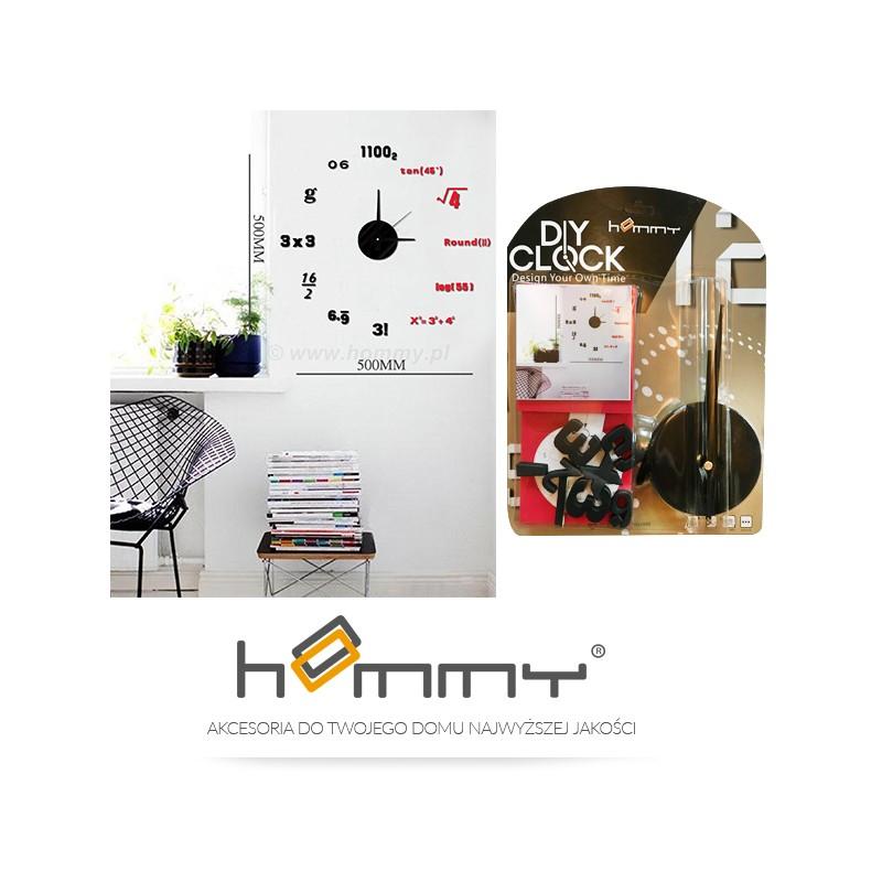 zegar cienny naklejki na cian matematyczny hm4 wsc. Black Bedroom Furniture Sets. Home Design Ideas