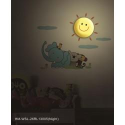 Lampa ścienna + naklejki na ścianę dla dzieci HM4-WSL-26RL13005