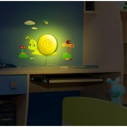 Lampa + naklejki na ścianę dla dzieci HM4-WSL-15RL006