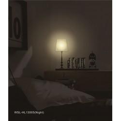 Lampa ścienna + naklejki na ścianę do sypialni Abażur HM4-WSL-HL13005