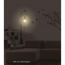 Lampa ścienna + naklejki na ścianę do salonu Ptaszki Birds HM4-WSL-HL13007