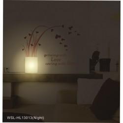 Lampa ścienna + naklejki na ścianę do biura HM4-WSL-HL13013