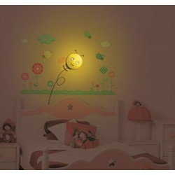 Lampa ścienna + naklejki na ścianę dla dzieci HM4-WSL-15RL001
