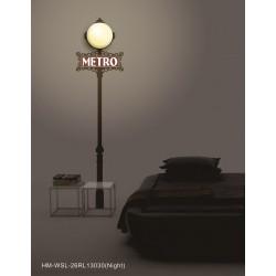 Lampa ścienna + naklejki na ścianę HM4-WSL-26RL13030