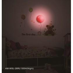 Lampa ścienna + naklejki na ścianę dla dzieci HM4-WSL-26RL13004