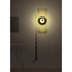 Lampa + Zegar HM4-WCL-14027 + naklejki dekoracyjne ścienne Sygnalizator Świetlny