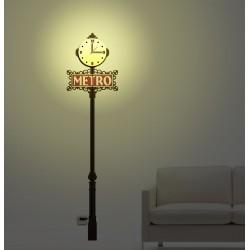 Lampa + Zegar HM4-WCL-14030 + naklejki dekoracyjne ścienne Metro